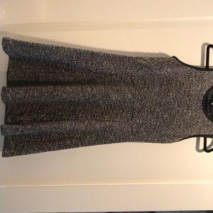 Jcrew tweed flare boucle dress